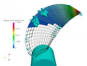 propeller elastic deformation fem